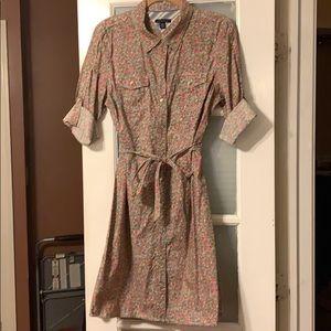 Collared Tommy Hilfiger Floral Shirt Dress💕